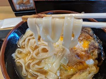 グルめん(特製かき揚げきしめん、麺)