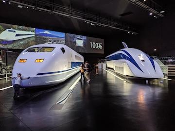 蒸気機関車・新幹線試験電車、超電導リニアの時速