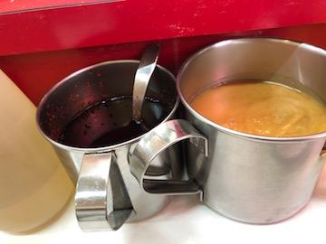 ラー油と味噌