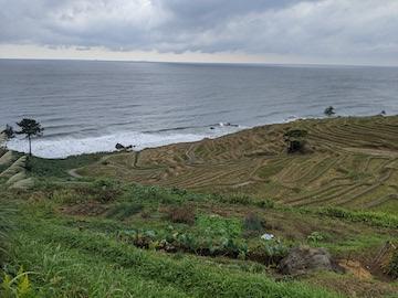 日本海と千枚田