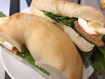 モーニングCセットのサンドイッチ