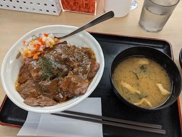 洋風ステーキ丼(全体図)
