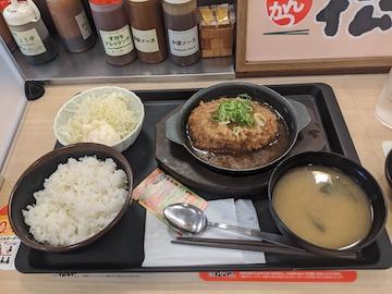 おろしメンチハンバーグ定食(2)