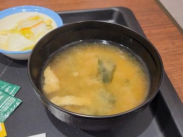 うなぎコンボ牛めし(味噌汁)