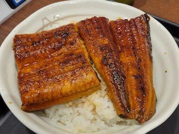 うな丼(ご飯大盛り無料サービス)