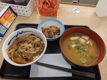 得朝ミニ牛めし豚汁セット(1)