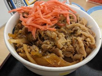 得朝ミニ牛めし豚汁セット(4)