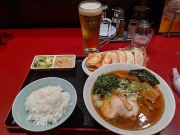 焼餃子・支那そば定食(2)