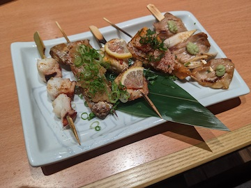 海鮮串五種盛り合せ(1)