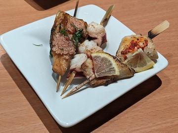 海鮮串五種盛り合せ(2)