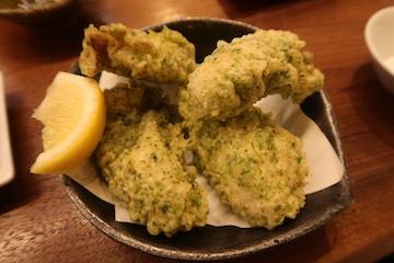 牡蠣の磯辺揚げ