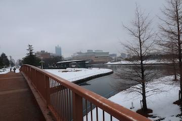富岩運河環水公園の雪景色(3)