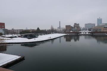 富岩運河環水公園の雪景色(4)