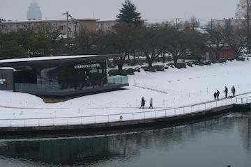 富岩運河環水公園の雪景色(5)
