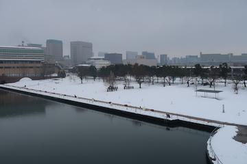 富岩運河環水公園の雪景色(6)