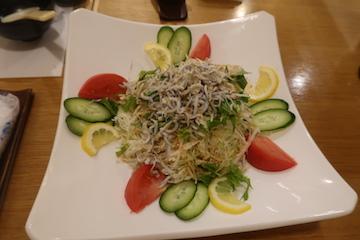 じゃこと水菜のシャキシャキサラダ(1)