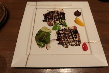 富山牛のカルパッチョ(1)