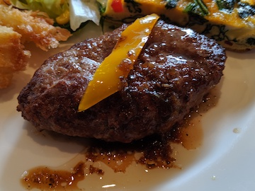 お得な洋食3種プレート(ハンバーグ)