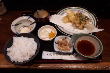 白魚かき揚げと温泉玉子定食