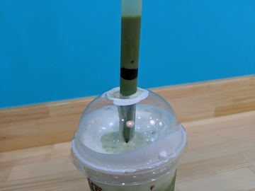 抹茶スムージー&自家製チーズクリーム(4)