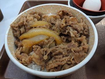牛丼と豚汁セット(3)