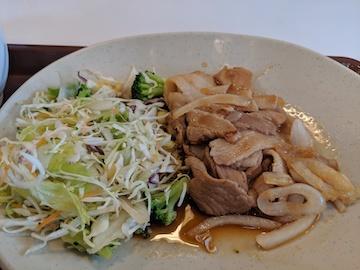 豚生姜焼き朝食(2)