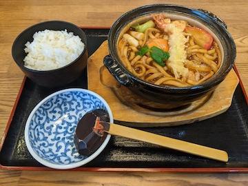 海老天 味噌煮込みうどん(1)