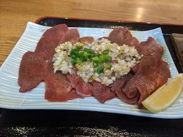 薄切り牛タンの塩焼き(2)