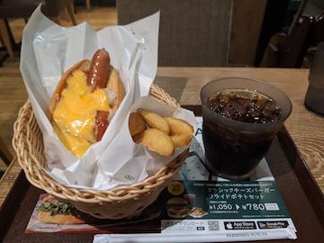 チーズドッグとフライドポテトフライセット(1)
