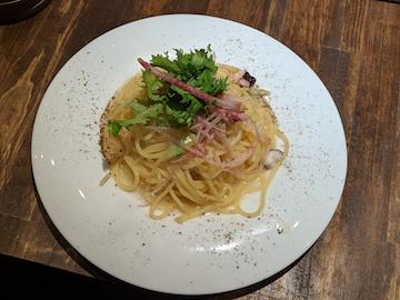 タコとわさび菜の和風ペペロンチーノ(1)