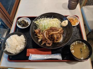 豚肉生姜焼き定食(1)