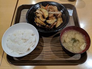 肉なす味噌炒め定食(1)
