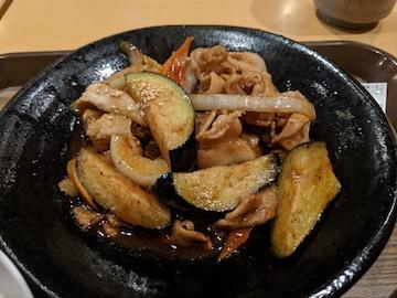 肉なす味噌炒め定食(2)