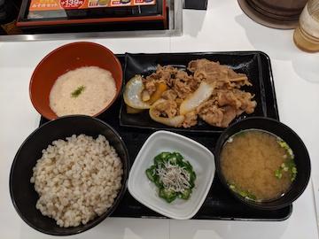 牛皿麦とろ御膳(1)