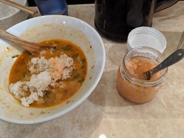 鶏ポンタン麺の〆(1)