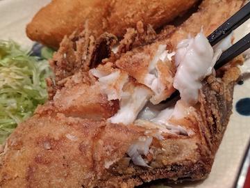 カワハギの唐揚げと白身フライ定食(4)