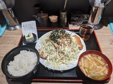 広島風トリカツランチ(1)