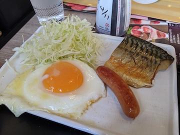 塩さば朝食(3)