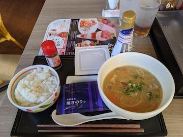 豚汁朝食(1)