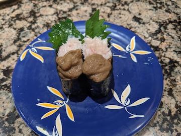 蟹身と蟹味みそ愛盛(1)