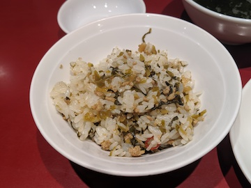 高菜ひき肉ご飯