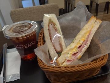 朝セットAとサンドイッチ(1)