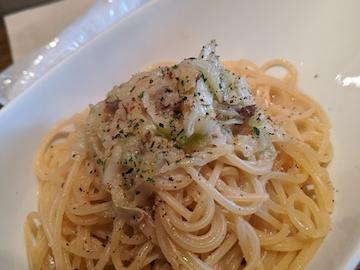 アンチョビキャベツのアーリオオーリオ スパゲティ(2)