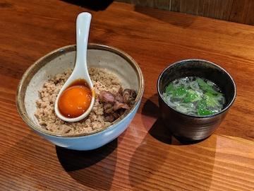 そぼろご飯 卵黄のせ(1)