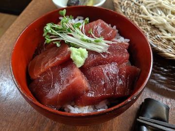 漬鮪丼とそばのセット(2)