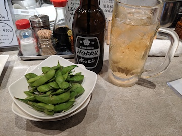 ホッピーセットと枝豆