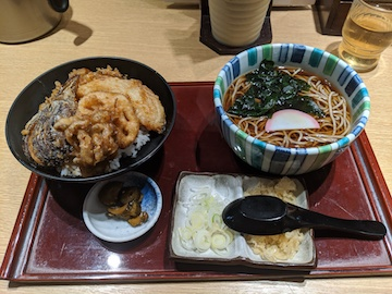 ごまそばと野菜天丼のセット(1)