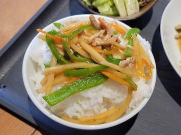 チンジャオロース定食(ご飯について)
