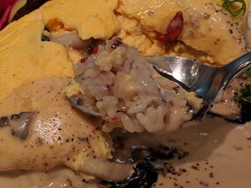キノコのクリームオムライスプレート(4)